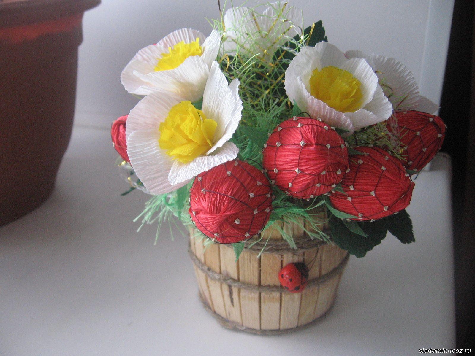 Ягода из конфет пошаговое фото для начинающих